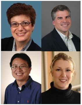 Top Left to Right: Carolyn Meltzer, Andrés J. García; Bottom Left to Right: Yajun Mei, Anne Fitzpatrick
