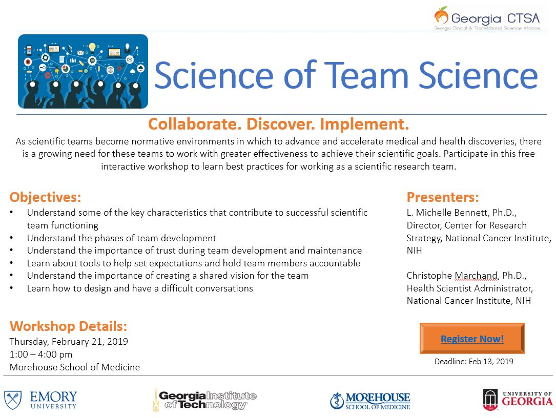 Science of Team Science | Georgia Clinical & Translational