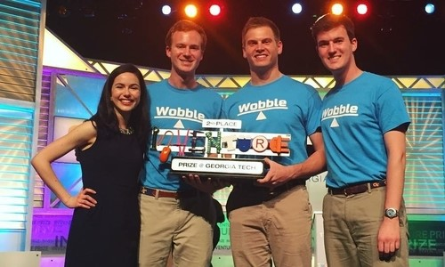 Team Wobble from left-right: Ana Gomez Del Campo, Hailey Brown, Garrett Wallace, and Matthew Devlin