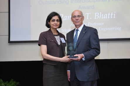Pamela Bhatti, PhD, associate professor of Bioengineering and Digital Signal Processing, Georgia Institute of Technology, and Rafael Bras, ScD, Provost, Georgia Institute of Technology