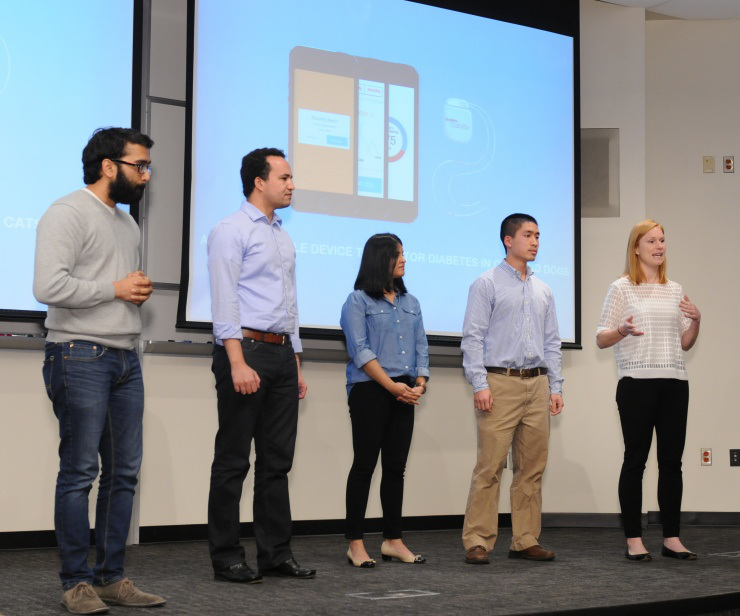 Team Bioletics presenting during a recent competition