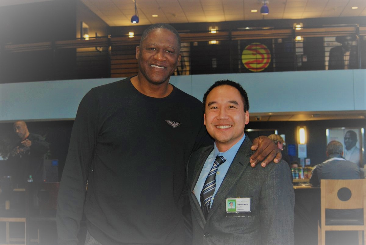 Atlanta Hawks legend, Dominique Wilkins with Jonathan Kim, MD
