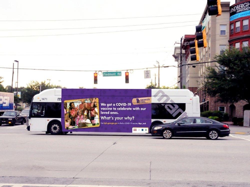 Georgia CEAL ad on MARTA bus
